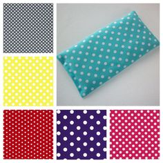 Aromatherapy Eye Pillow lavender flax seeds yoga mask polka dots spa sleep relaxation stress relief coworker teacher bridemaids friend gift