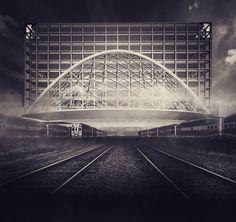 #sneak preview #hypermodal #concept #development #thesis #bridge #architecture #stacked #icerinks #suspension #park #transit #toronto #longwaytogo #danielsfaculty #rail #corridor #structure #engineering #urban #mobility #6ix #to by: @saarinen_balagen
