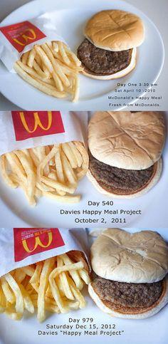 Un menu McDonald's toujours intact après 979 jours…