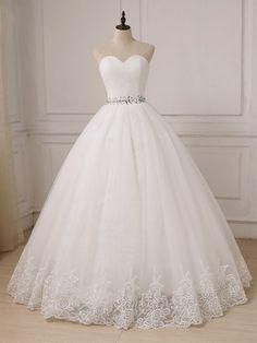 Cheap Sweetheart Tulle Lace Crystals Custom Plus Size Ball Gown Bride Dress Itemwd0526 Beach Wedding Bridesmaid Dresses, Cheap Wedding Dress, Sweetheart Wedding Dress, Wedding Gown A Line, Custom Wedding Dress, Wedding Dress Organza, Wedding Dresses Plus Size, Bridal Dresses, Ivory Wedding