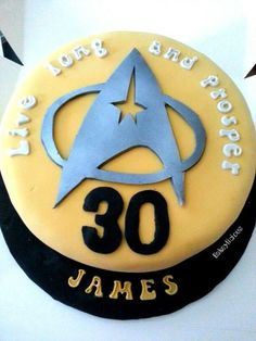 It's cake Jim, but not as we know it... Star Trek birthday cake from Bakeylicious.co.uk