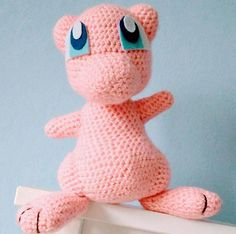 Crocheted Mew Pokemon Plushie Stuffed toy Cute gift Nursery