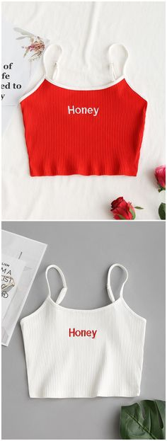 Up to 80% OFF! Ribbed Cropped Honey Embroidered Tank Top. #Zaful #Tops zaful,zaful outfits,spring outfits,summer dresses,Valentine's Day,Valentine's Day gift,valentines day ideas,valentines outfits,cute,casual,classy,chic,women fashion,fashion,teen fashion,products,tops,blouse,off shoulder blouse,embroidered blouse,shirts,striped shirts,T-shirt,tees,t shirts,teeshirts,tank tops,crop tops,shirts,clothes,tunic tops,summer tops,lace top,ladies shorts,elegant outfits @zaful Extra 10% OFF…