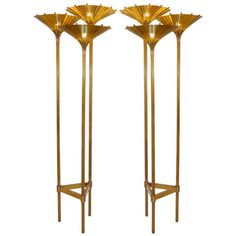 Pair of Rare Italian Bronze Floor Lamps | From a unique collection of antique and modern floor lamps  at http://www.1stdibs.com/furniture/lighting/floor-lamps/