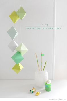 DIY: geo paper christmas decorations