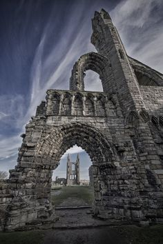 St Andrews cathedral taken on a beautiful sunny Autumn day  -  fraser hetherington
