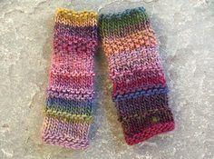 Knit Fingerless gloves Multicolour fingerless by MarryGKnitCrochet