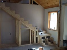 March 28, 2015 view of winder stairs in large unit.