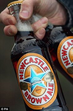 Could BEER replace wine as the UK's festive tipple of choice? Newcastle Brown Ale, Beer Bottle, Brewing, Alcoholic Drinks, Wine, Beautiful, Food, Ale, Meals