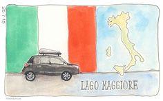 Onderweg naar Lago Maggiore. #lagomaggiore #iltay #illustratie #artjournal