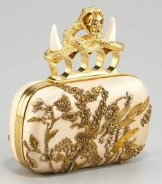 Gorgeous Alexandre McQueen Embroidered Satin Clutch, If i Only had $2795  to blow lol