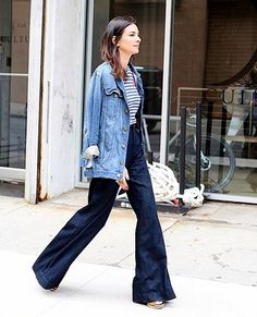 Street Style: A Casual Cool Way To Wear Wide-Leg Denim For Fall