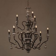 Nordic expression / American / country / French / vintage wrought iron lamps / Luoji Mu wood , wrought iron chandelier classical