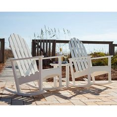 Adirondack Rocking Chair | POLYWOOD Recycled Plastic Outdoor Rockers | Available at Vermont Woods Studios