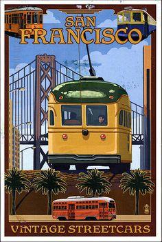 Vintage Travel Poster - San Francisco