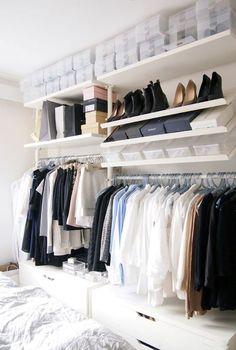 walk in closet stolmen ikea Armoire Dressing, Dressing Room Closet, Wardrobe Closet, Closet Bedroom, Closet Space, Home Bedroom, Open Wardrobe, Bedrooms, Closet Storage