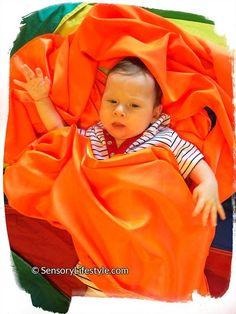 Josh playing in fabric