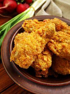 Сладко и Солено: Пилешки крилца с корнфлейкс