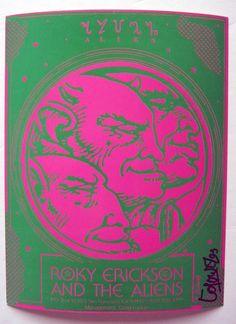 Roky Erickson Aliens 13th Floor Elevators Signed Psych Management Mini Poster | eBay