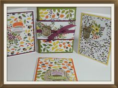Hi Everyone! Visit my blog for a tutorial on how to make this card box gift set! Features Stampin' UP!'s Into the Woods and Acorny Thank You. Happy Crafting!~ Dee