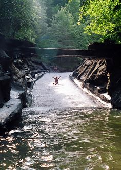 I did not know this was there! We have to go! - Rockslide at Big Canoe | North Georgia