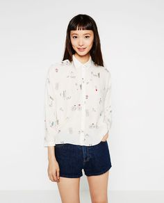 Image 1 of BOWS CROPPED SHIRT from Zara