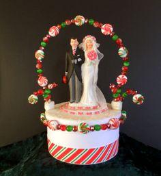 Christmas Wedding Cake Toppers.Christmas Wedding Cake Toppers