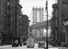 1946 - Manhattan Bridge from Madison and Pike Street by Todd Webb