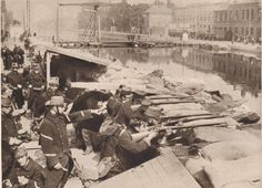 Belgian defenses at the Willebrock Canal, 1914.