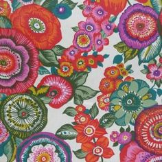Amparo Extra Wide Acrylic oilcloth in Rose and Blue Fantastically flamboyant gypsy inspired design What is special about this oilcloth The width French Acrylics, Japanese Blossom, Ticking Stripe, Fabulous Fabrics, Fabric Wallpaper, Red And Grey, Repeating Patterns, Designer Wallpaper, A Table