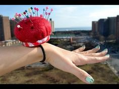 ▶ ✂ How to make a wrist band pin cushion using recycled materials - Natalie's Creations - YouTube