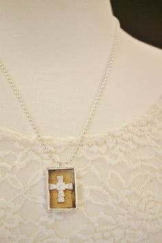 Shadow box necklaces: available in small and large.