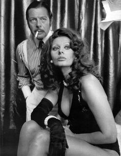 Sophia Loren and Marcello Mastroianni. My second cousin, totes looks like me doesn't he...?
