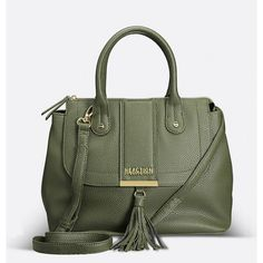 Avenue Norway Satchel Handbag ($50) ❤ liked on Polyvore featuring bags, handbags, olive, plus size, faux leather tote bag, green purse, olive green purse, faux leather satchel and foldable tote