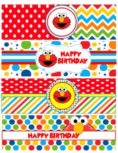 Instant Download, Elmo Inspired Water Bottle Label, Elmo Party Ideas