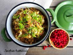 Helppo ja nopea uuden sadon kaali- jauhelihapata sekä arkiruokahaaste: Tinskun keittiössä