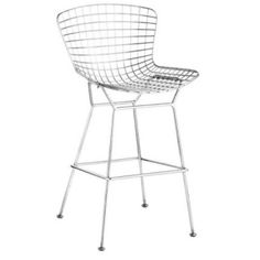 Wire Bar Stool in Rose Gold or Chrome (Set of 2)