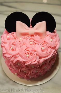 Sweet Minnie Mouse Smash Cake