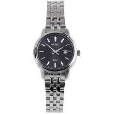Seiko Silver Tone Stainless Steel Watch w/ Blue Face New without Tags Big Watches, Seiko Watches, Sport Watches, Cool Watches, Watches For Men, Popular Watches, Seiko Titanium, Titanium Watches, Stainless Steel Watch