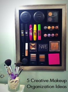 5 Creative Beauty Organization Ideas- XOXO Love! These are great DIY and craft ideas for storage, I love them!