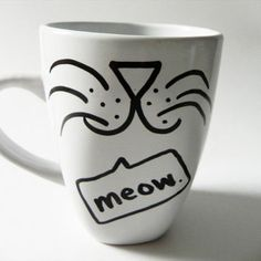 sharpie mug animal face ideas - Google Search
