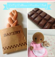 DIY mini series: Make your own dollhouse miniature food on www.beadlady.info