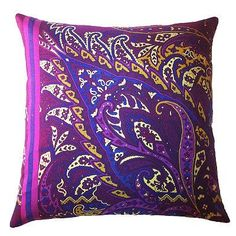 Fall Fiore Vintage Paisley Indoor Throw Pillow -