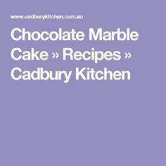 Chocolate Marble Cake » Recipes » Cadbury Kitchen