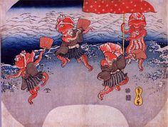 【奇妙な動物/Strange Animals in Ukiyo-e】歌川貞秀「蛸踊り」Octopuses by Sadahide #ミュージアムウィーク #想像力MW #MuseumWeek #inspirationMW