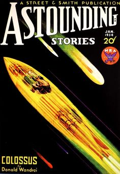 scificovers: Astounding Stories January 1934. Cover by Howard V. Brown.