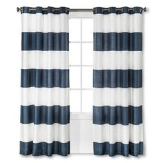 Bold Curtain Panel Blue 54 X95 Threshold