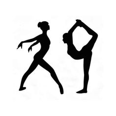 Dancer Die Cuts, Dancer Silhouette, Gymnastics Die Cuts, Gymnast die... ($4) ❤ liked on Polyvore featuring dance, ballet and fillers