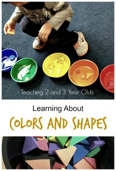 Teaching preschoolers colors and shapes - a group activity that is perfect for circle time - Teaching 2 and 3 Year Olds