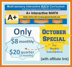 Common sense press 30 off everyday featured fridays curriculum for the month of october a interactive math is offering the monthly online subscription for fandeluxe Gallery